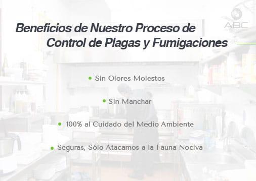 beneficios de nuestro proceso de control de plagas para comercios