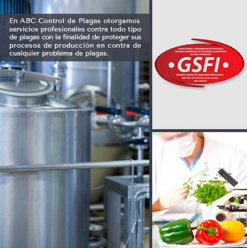 contra plagas para el sector de la industria procesadora de alimentos